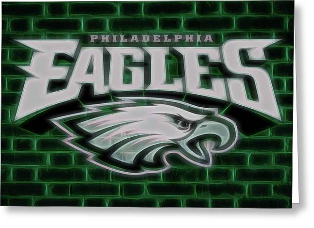 Philadelphia Eagles Electric Sign Greeting Card