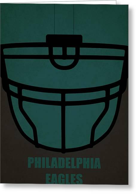 Philadelphia Eagles Helmet Art Greeting Card by Joe Hamilton