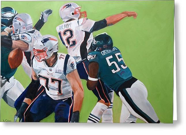 Philadelphia Eagles Strip-sack Of Tom Brady In Super Bowl Lii  Greeting Card