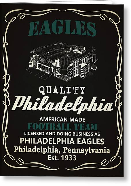 Philadelphia Eagles Whiskey Greeting Card by Joe Hamilton