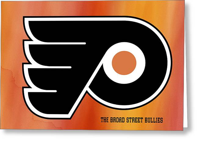 Philadelphia Flyers Hockey Club Greeting Card by Daniel Hagerman