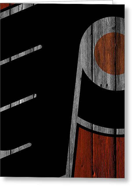 Philadelphia Flyers Wood Fence Greeting Card by Joe Hamilton