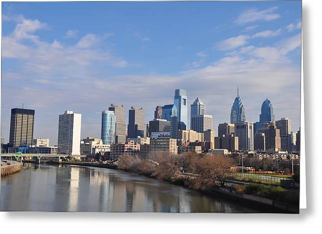 Philadelphia From The South Street Bridge Greeting Card by Bill Cannon