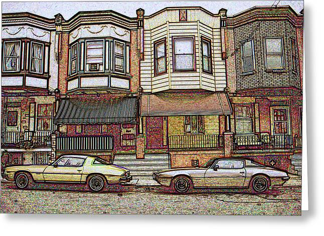 Philadelphia Homes - Color Pencil Greeting Card
