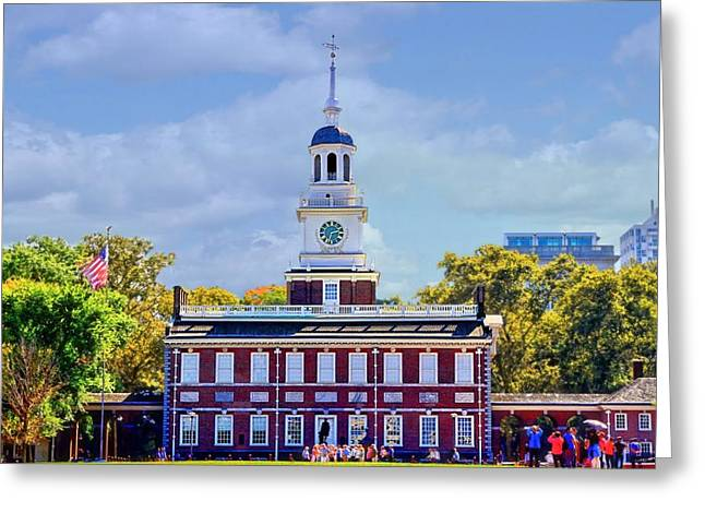 Philadelphia Landmark Greeting Card by DJ Florek