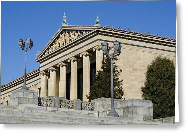 Philadelphia Museum Of Art Greeting Card by Brendan Reals