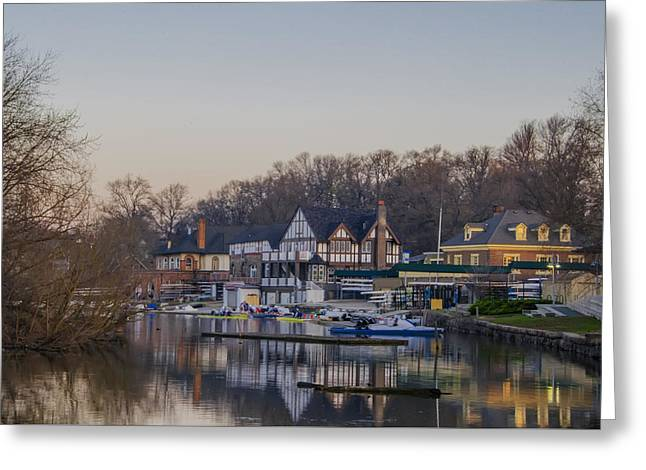 Philadelphia On Boathouse Row Greeting Card by Bill Cannon