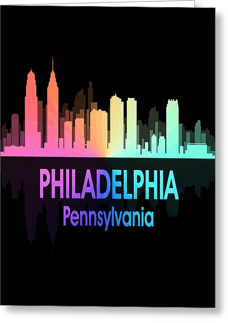 Philadelphia Pa 5 Vertical Greeting Card by Angelina Vick