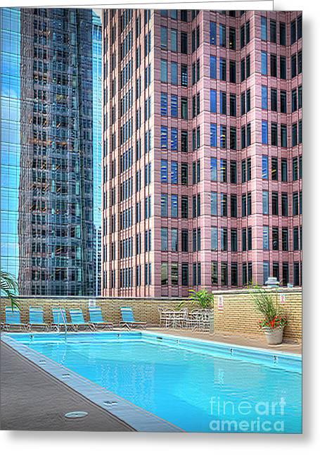 Embasy Pool Bell Atlantic Tower 2 Logan Square Greeting Card