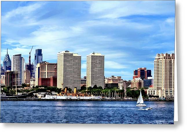 Philadelphia Pa Skyline Greeting Card