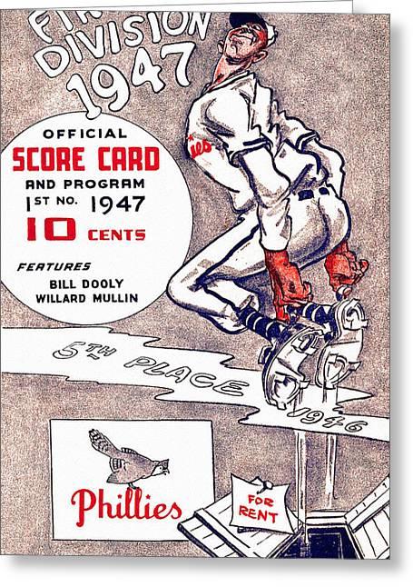 Philadelphia Phillies 1947 Scorecard Greeting Card