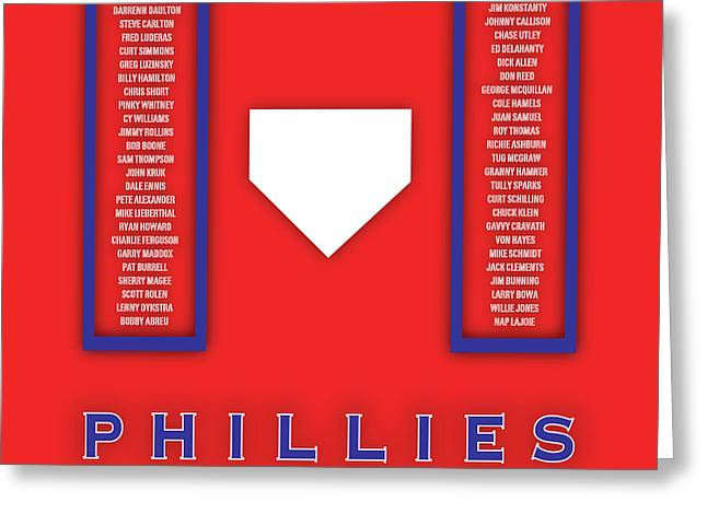 Philadelphia Phillies Art - Mlb Baseball Wall Print Greeting Card