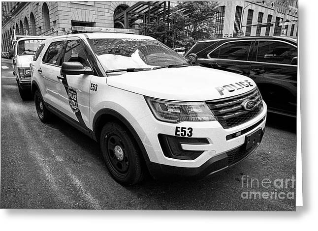 Philadelphia Police Ford Interceptor Utility Patrol Car Vehicle Usa Greeting Card