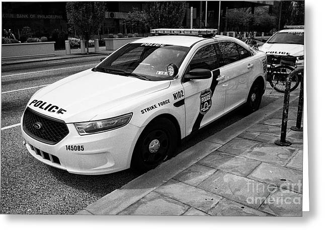 Philadelphia Police Narcotics Strike Force Police Cruiser Vehicle Usa Greeting Card