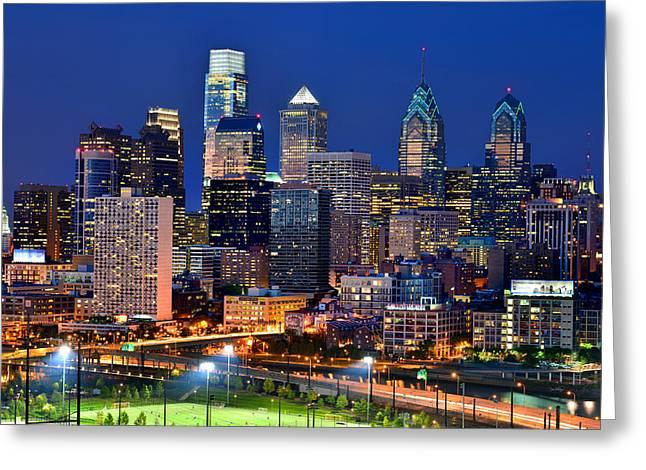 Philadelphia Skyline At Night Photograph By Jon Holiday