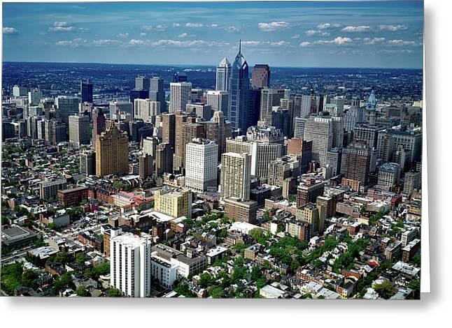 Philadelphia Skyline Greeting Card by Mountain Dreams