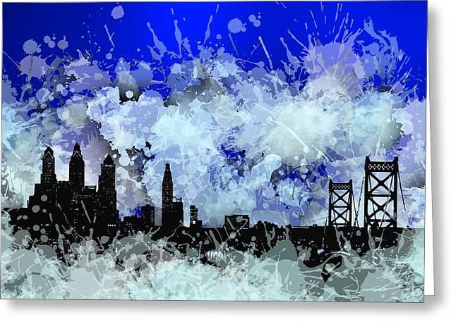 Philadelphia Skyline.1 Greeting Card