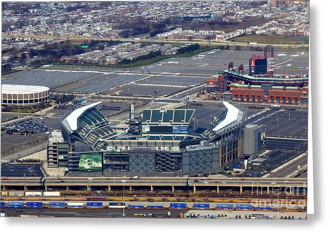 Philadelphia Sports Complex Greeting Card by Anthony Totah