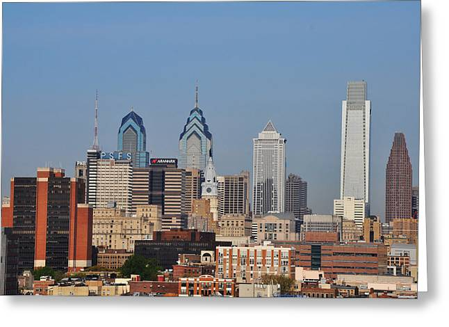 Philadelphia Standing Tall Greeting Card by Bill Cannon