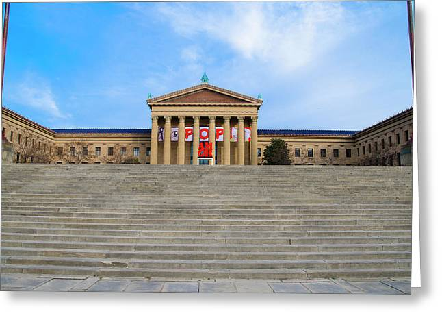 Philadelphia - The Rocky Steps Greeting Card by Bill Cannon