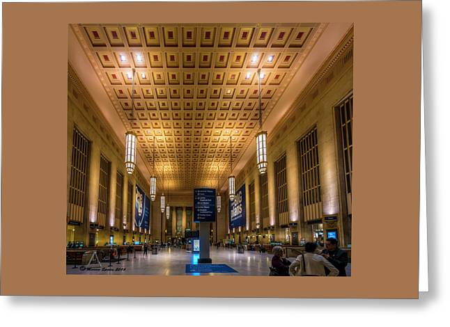Philadelphia Train Station Greeting Card by Marvin Spates
