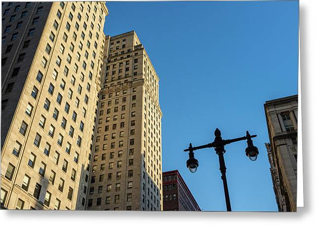 Philadelphia Urban Landscape - 0948 Greeting Card