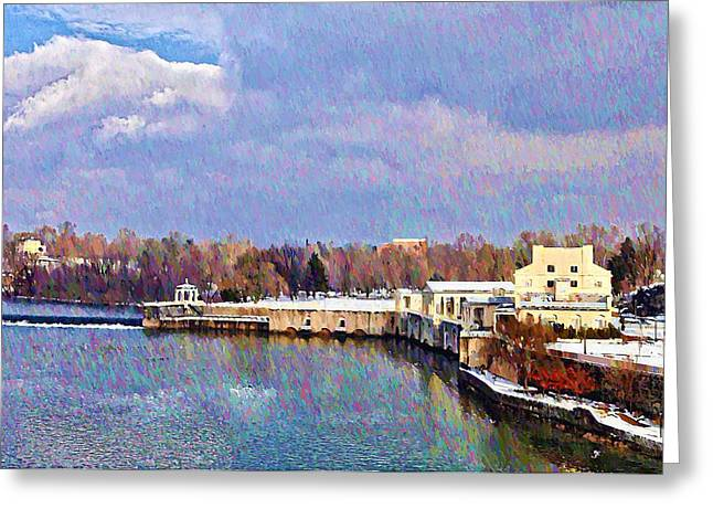 Philadelphia Digital Greeting Cards - Philadelphia Waterworks Greeting Card by Bill Cannon