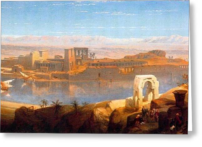 Philae In Nubia Greeting Card by David Roberts