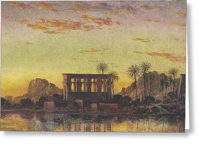 Philae The Beautiful Greeting Card by Edward William Cooke