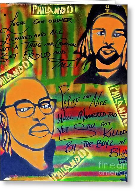 Philando Castile Greeting Card by Tony B Conscious