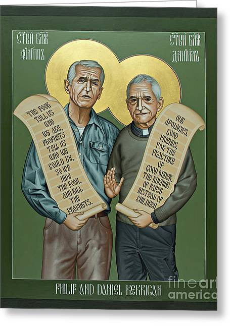 Philip And Daniel Berrigan Greeting Card