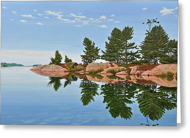 Greeting Card featuring the painting Philip Edward Island by Kenneth M Kirsch