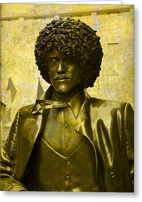 Philip Lynott Statue Greeting Card