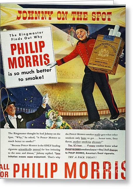 Philip Morris Cigarette Ad Greeting Card