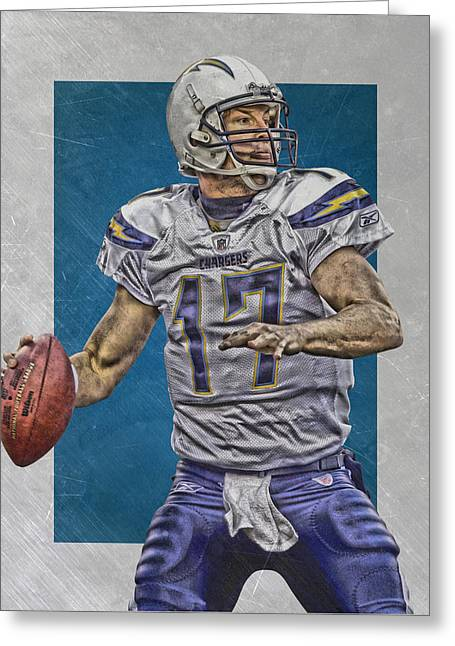 Philip Rivers San Diego Chargers Art Greeting Card