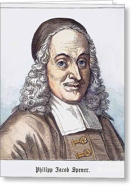 Philipp J. Spener (1635-1705) Greeting Card by Granger