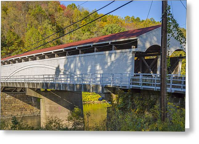 Philippi Covered Bridge Greeting Card by Jack R Perry