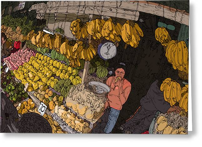 Philippines 3575 Saging Sales Lady Greeting Card by Rolf Bertram