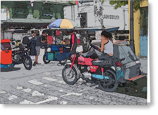 Philippines Greeting Cards - Philippines 673 Street Food Greeting Card by Rolf Bertram