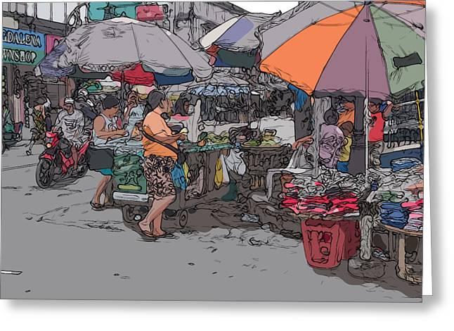 Rolf Bertram Greeting Cards - Philippines 708 Market Greeting Card by Rolf Bertram