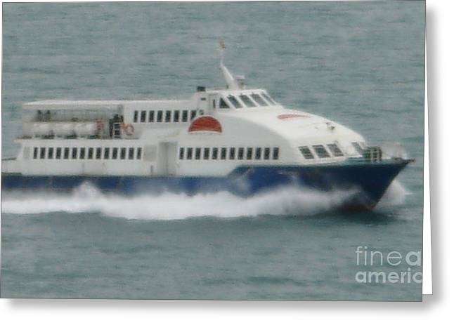 Philippines Island Ferry Greeting Card by Mike Holloway