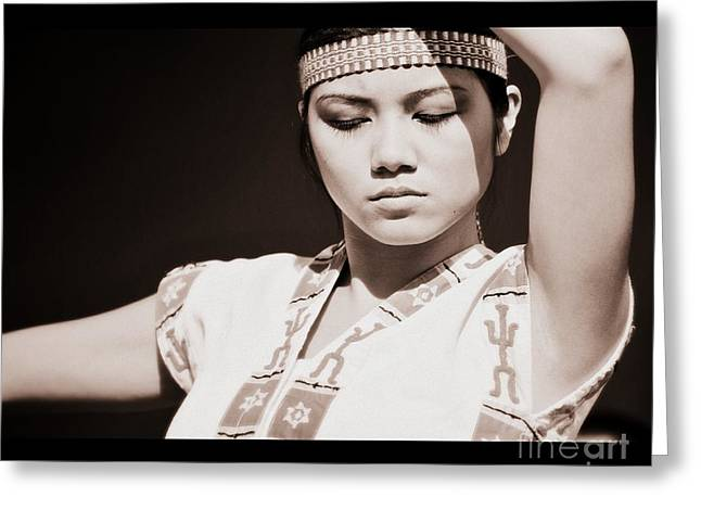 Philippino Dancer Greeting Card