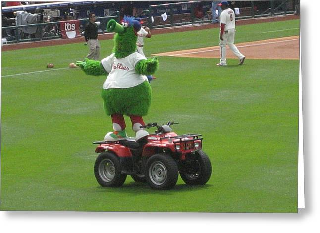 Phillie Phanatic Greeting Card by Jennifer  Sweet