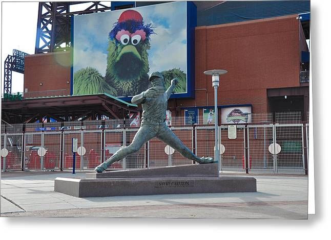 Phillies Steve Carlton Statue Greeting Card