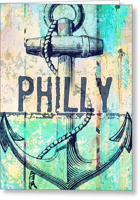 Philly Anchor 2 Greeting Card