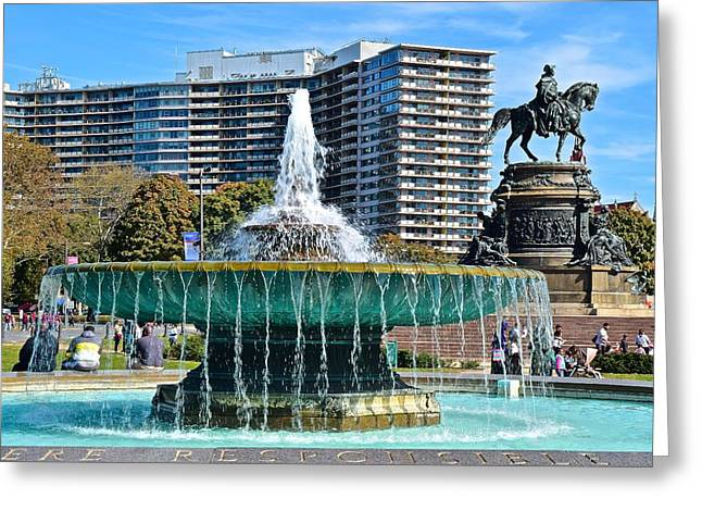 Philly Art Museum Greeting Card by Frozen in Time Fine Art Photography
