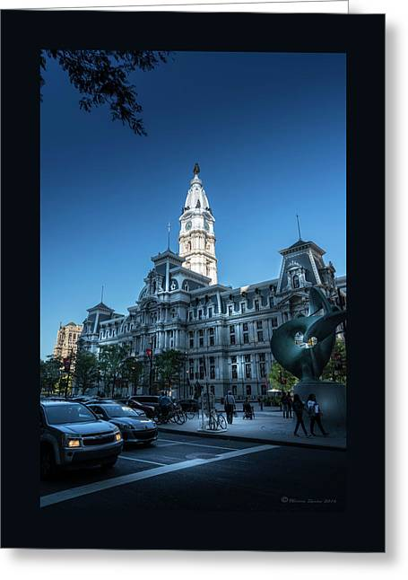 Philly City Hall Greeting Card by Marvin Spates