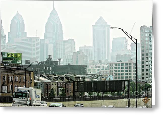 Philly Color  Greeting Card by Chuck Kuhn