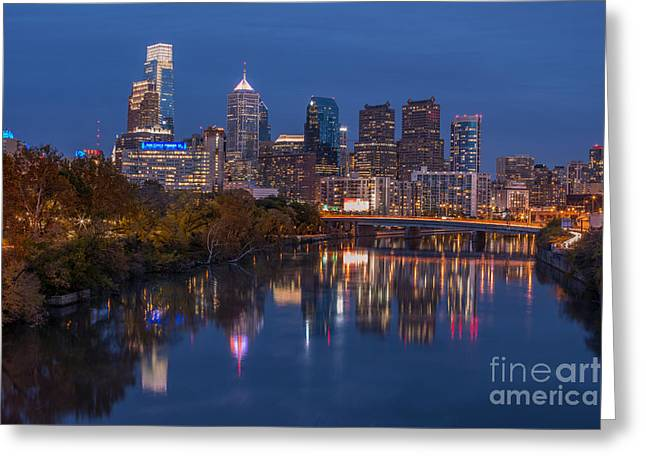 Philly Night Greeting Card