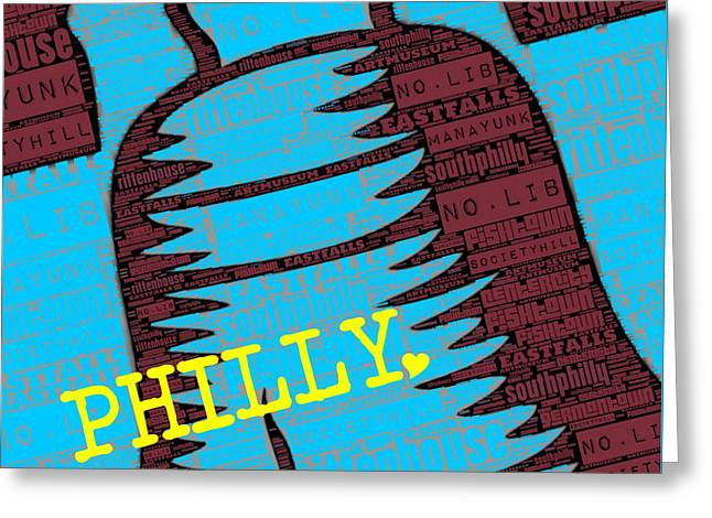 Philly Liberty Bell Greeting Card by Brandi Fitzgerald